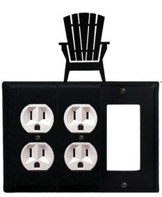 Adirondack - Double Outlet and Single GFI Cover
