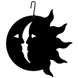 Sun/Moon - Decorative Hanging Silhouette