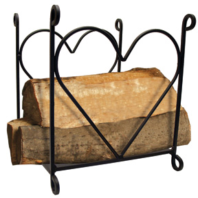 Country Warm and Beautiful Heart Wood Rack
