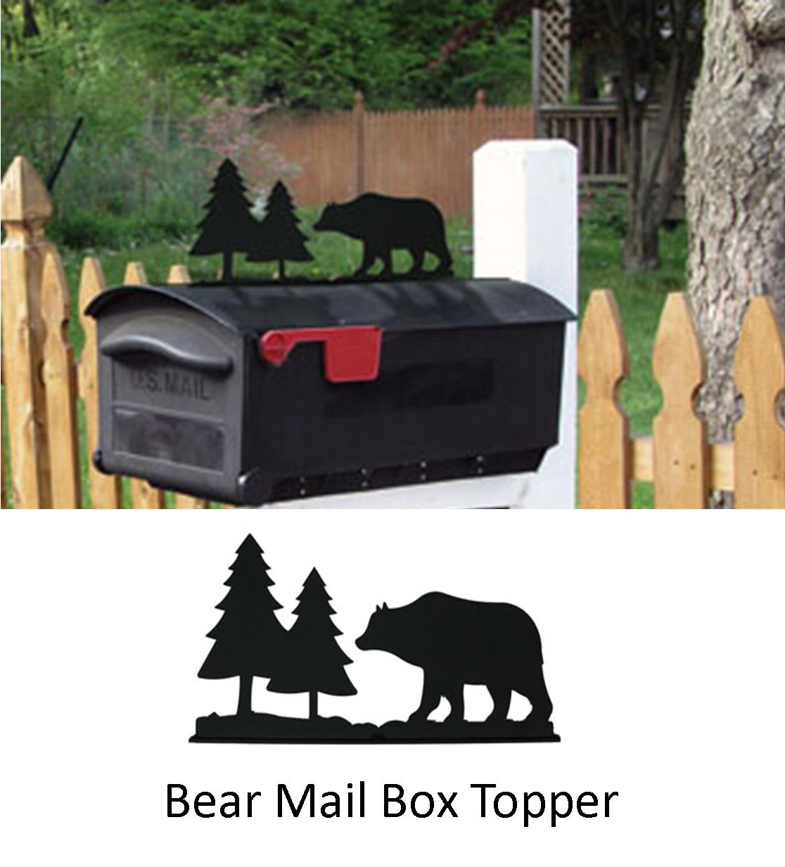 Bear & Pines Mail Box Topper