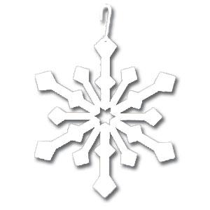 Snowflake - Decorative Hanging Silhouette