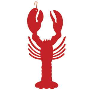 Lobster - Decorative Hanging Silhouette-RED
