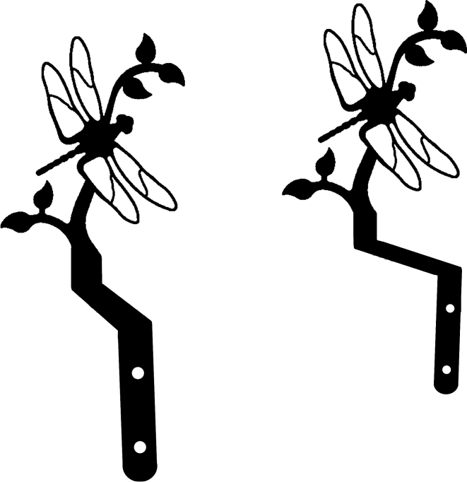 NO LONGER AVAILABLE - Dragonfly - Curtain Swags
