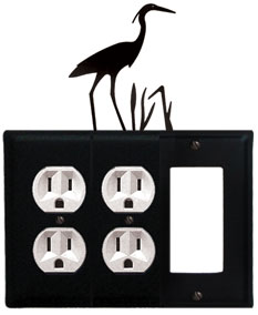 Heron- Double Outlet and Single GFI Cover