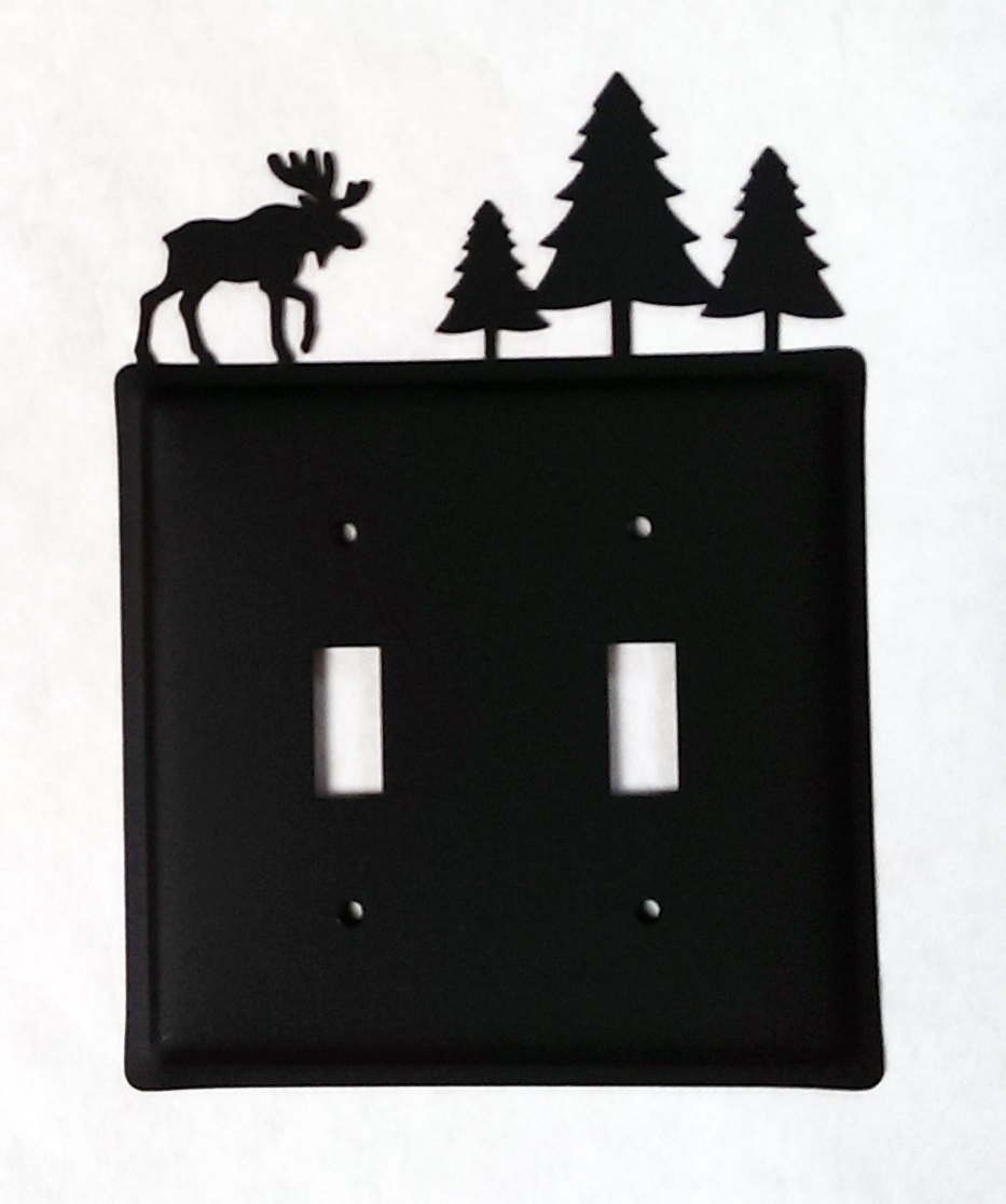 Moose & Pine Trees - Switch Cover Double