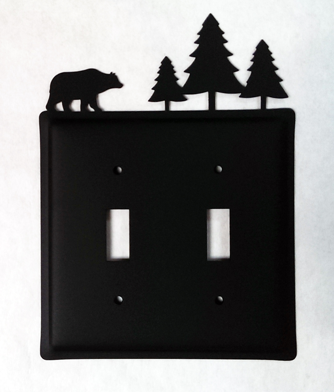 Bear & Pine Trees Switch Cover Double