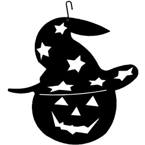 Pumpkin-Hat - Decorative Hanging Silhouette