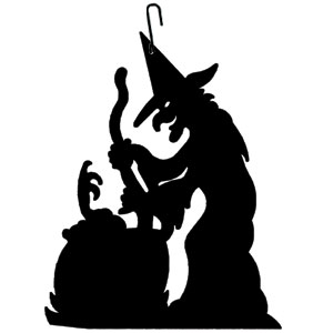 Witch-Cauldron - Decorative Hanging Silhouette