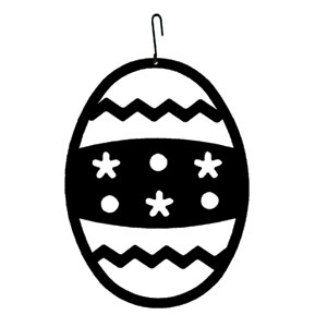 Easter Egg - Decorative Hanging Silhouette