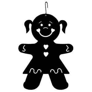 Gingerbread Girl - Decorative Hanging Silhouette