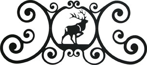 Elk - Over Door Plaque