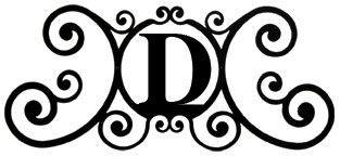 House Plaque Letter D