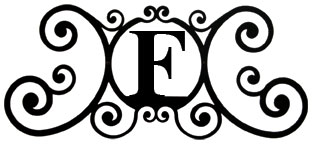 House Plaque Letter F