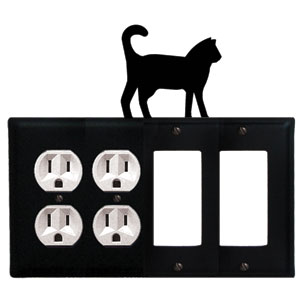 Cat - Double Outlet and Double GFI Cover - CUSTOM Product - If Out Of Stock, Allow 4 to 6 Weeks