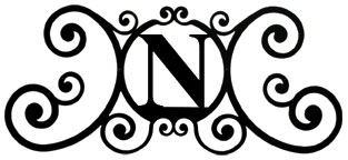 House Plaque Letter N