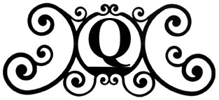 House Plaque Letter Q