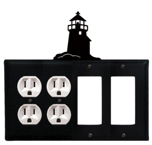 Lighthouse - Double Outlet and Double GFI Cover - CUSTOM Product - If Out Of Stock, Allow 4 to 6 Weeks