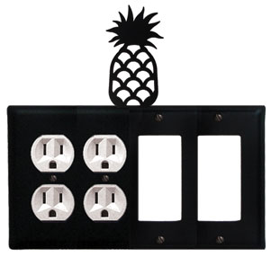 Pineapple - Double Outlet and Double GFI Cover - CUSTOM Product - If Out Of Stock, Allow 4 to 6 Weeks