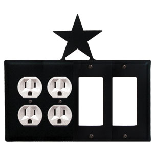 Star - Double Outlet and Double GFI Cover - CUSTOM Product - If Out Of Stock, Allow 4 to 6 Weeks
