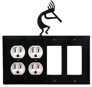 Kokopelli - Double Outlet and Double GFI Cover - CUSTOM Product - If Out Of Stock, Allow 4 to 6 Weeks