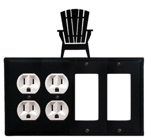 Adirondack - Double Outlet and Double GFI Cover - CUSTOM Product - If Out Of Stock, Allow 4 to 6 Weeks