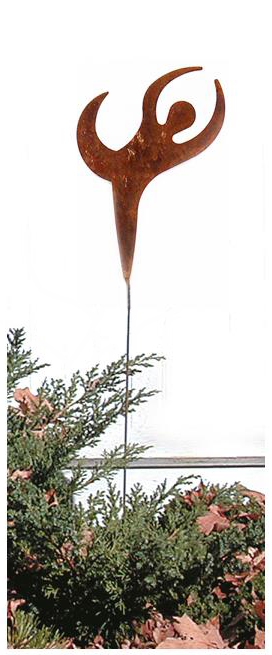 Dancer - Rusted Garden Stake