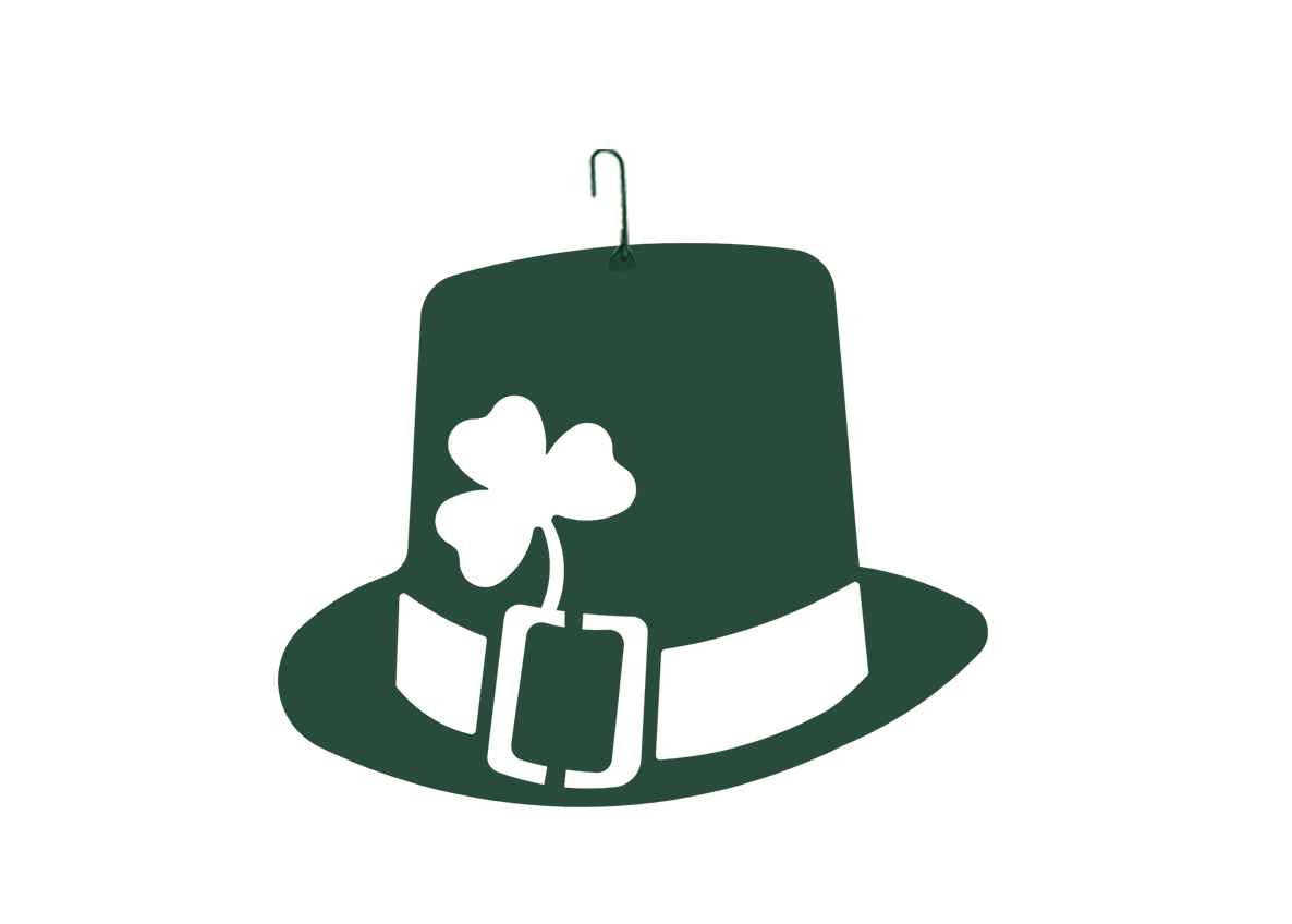 St. Pat Hat - Decorative Hanging Silhouette