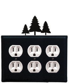 Pine Trees - Triple Outlet Cover