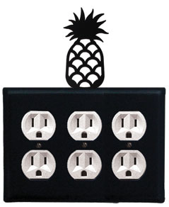 Pineapple - Triple Outlet Cover
