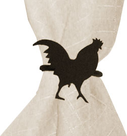 Rooster - Napkin Ring
