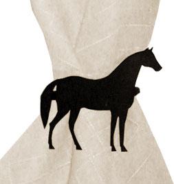 Standing Horse - Napkin Ring