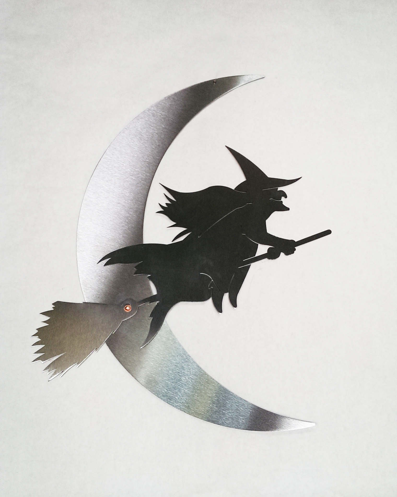 Wall Art NATURAL - Witch and Moon