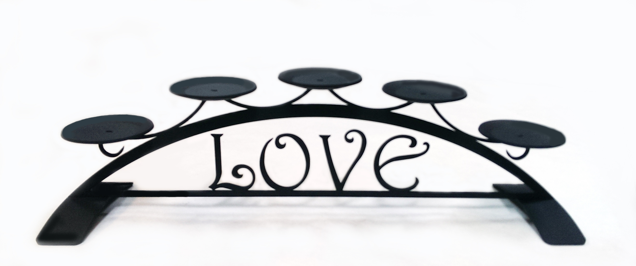 Love - Table Top Pillar Candle Holder