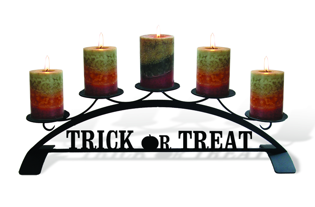 Trick Or Treat - Table Top Pillar Candle Holder