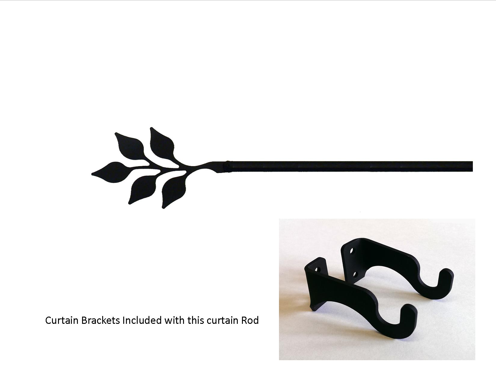 Leaf Curtain Rod - SM  (Hardware is INCLUDED)