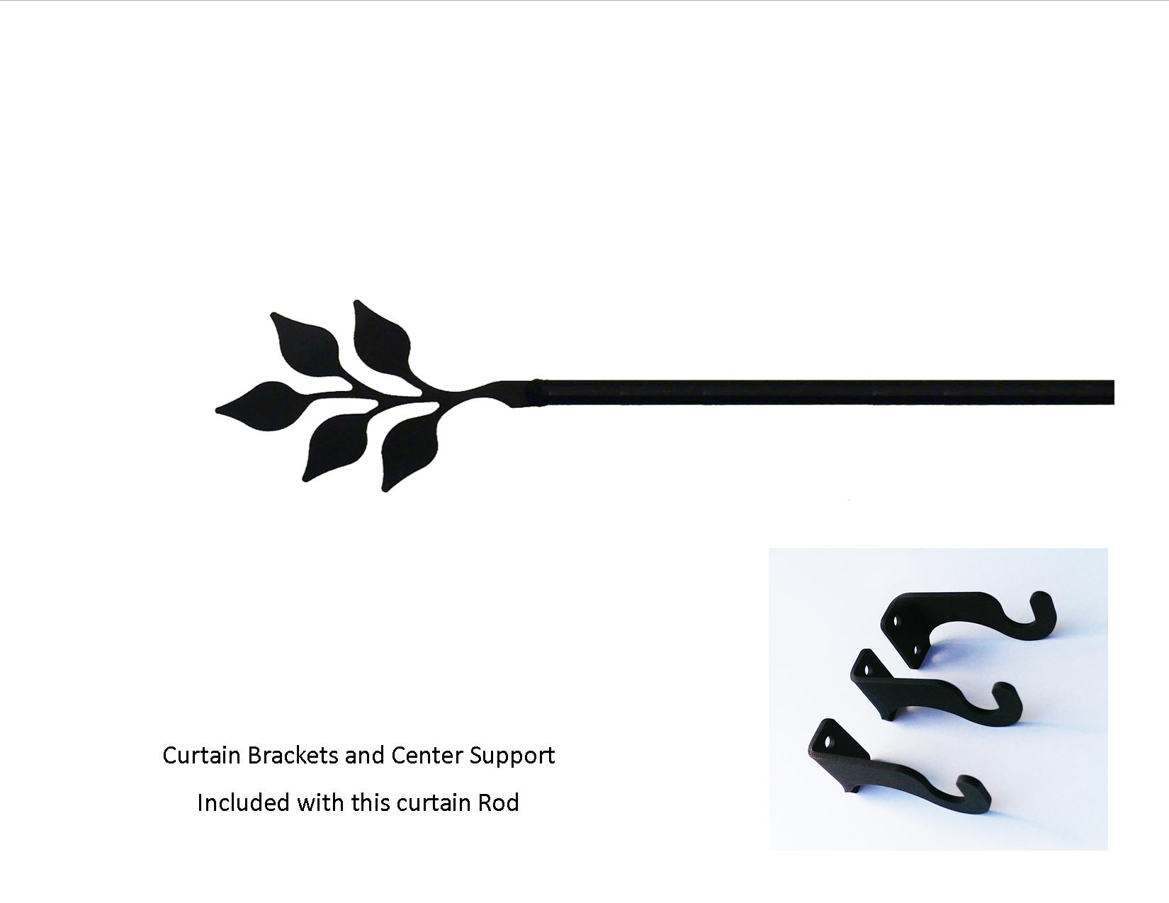 Leaf Curtain Rod - XL  (Hardware is INCLUDED)