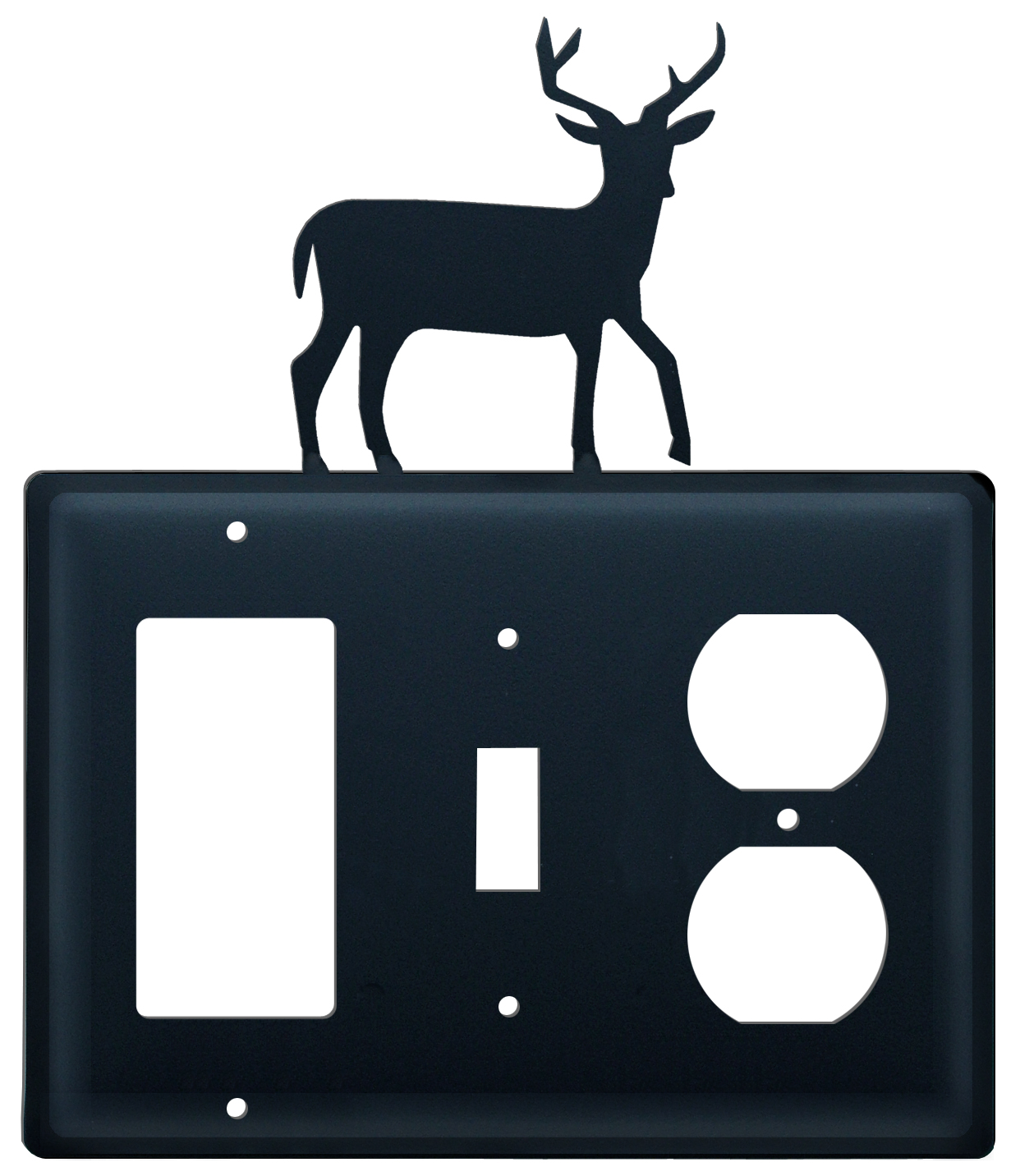 Deer - Single GFI, Switch and Outlet Cover - CUSTOM Product - If Out Of Stock, Allow 4 to 6 Weeks