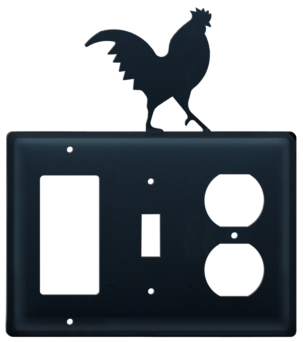 Rooster - Single GFI, Switch and Outlet Cover - CUSTOM Product - If Out Of Stock, Allow 4 to 6 Weeks