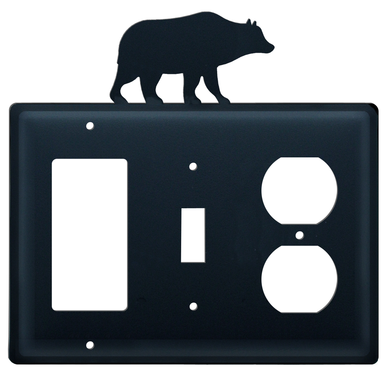 Bear - Single GFI, Switch and Outlet Cover - CUSTOM Product - If Out Of Stock, Allow 4 to 6 Weeks