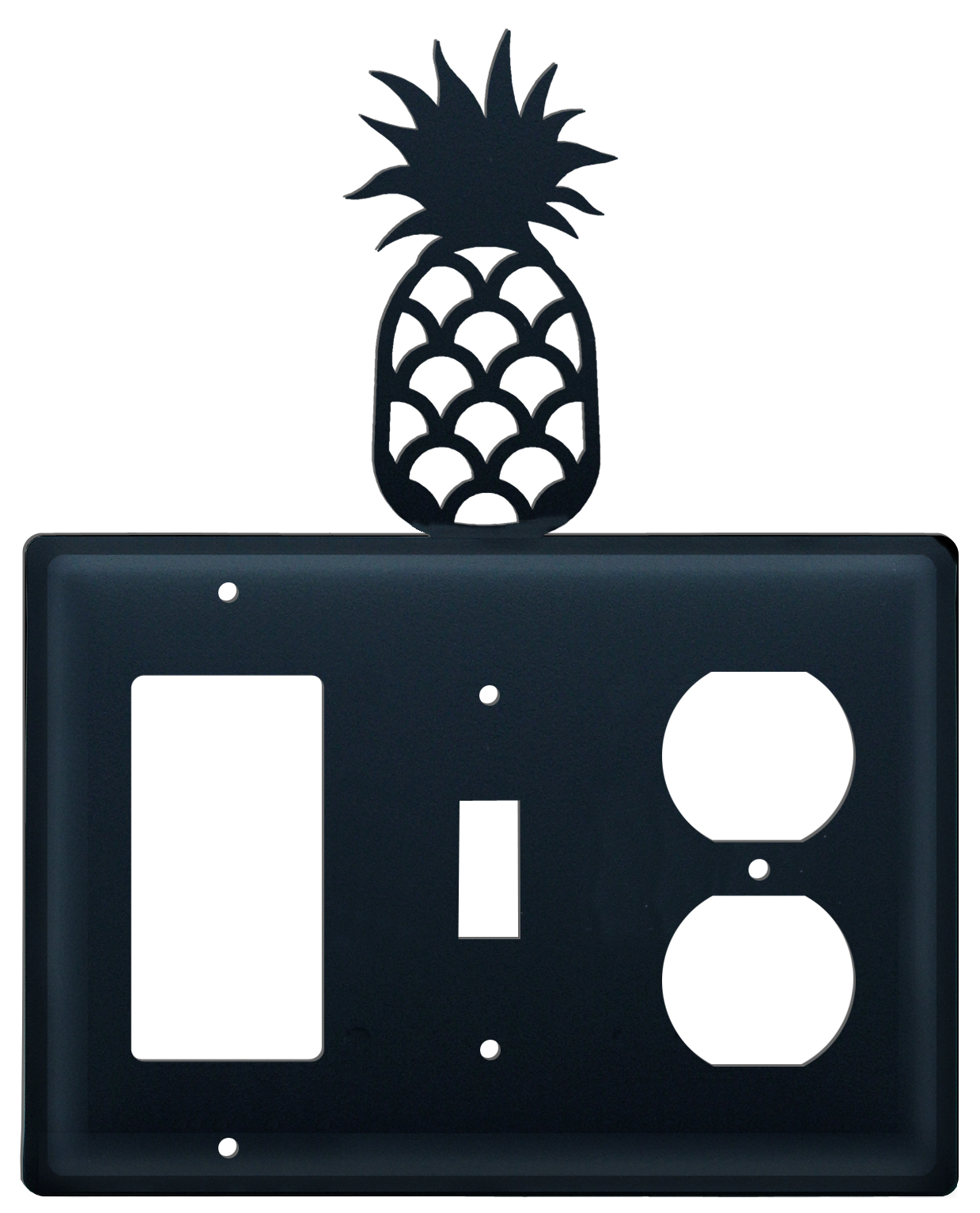 Pineapple - Single GFI, Switch and Outlet Cover - CUSTOM Product - If Out Of Stock, Allow 4 to 6 Weeks