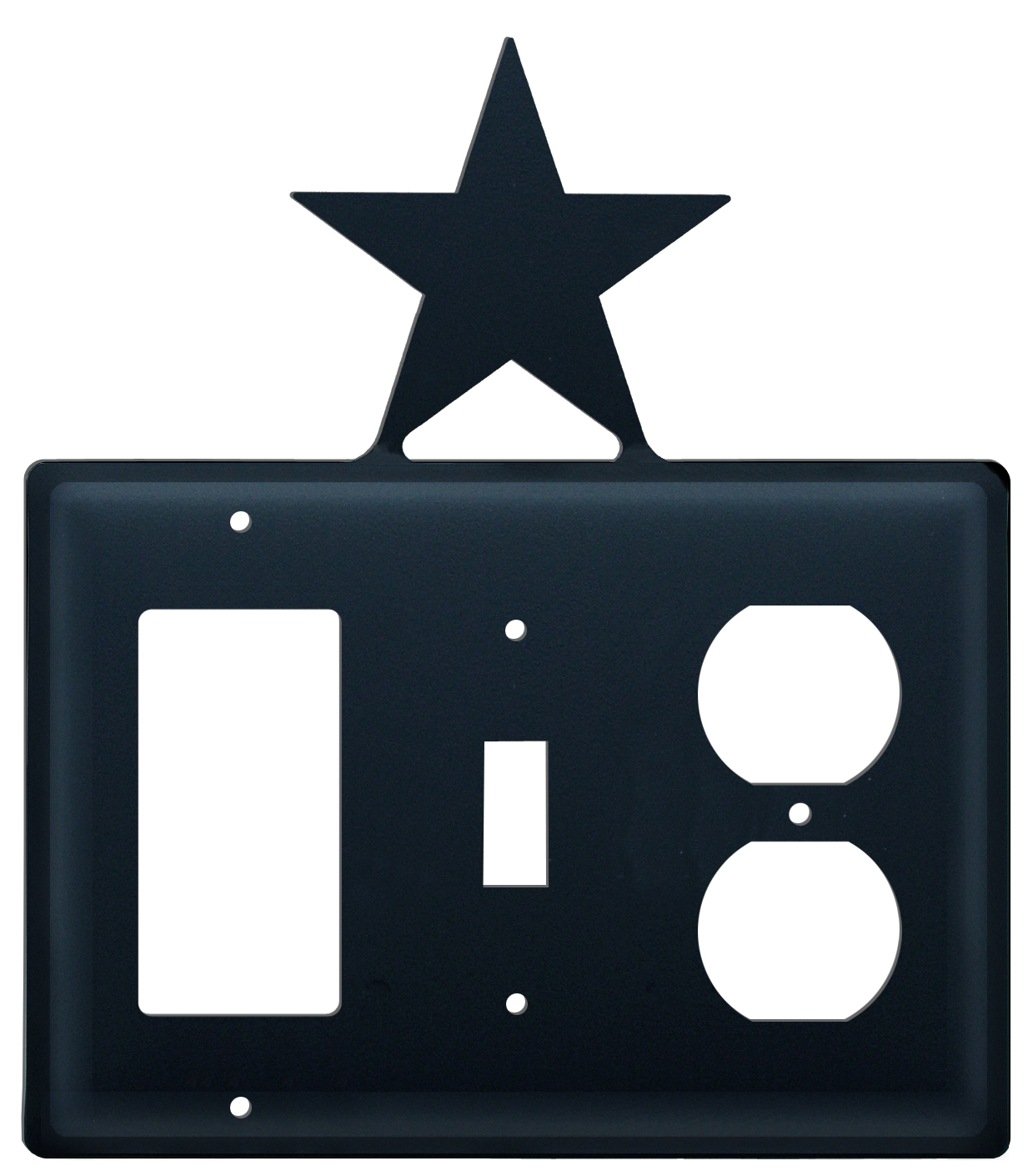 Star - Single GFI, Switch and Outlet Cover - CUSTOM Product - If Out Of Stock, Allow 4 to 6 Weeks