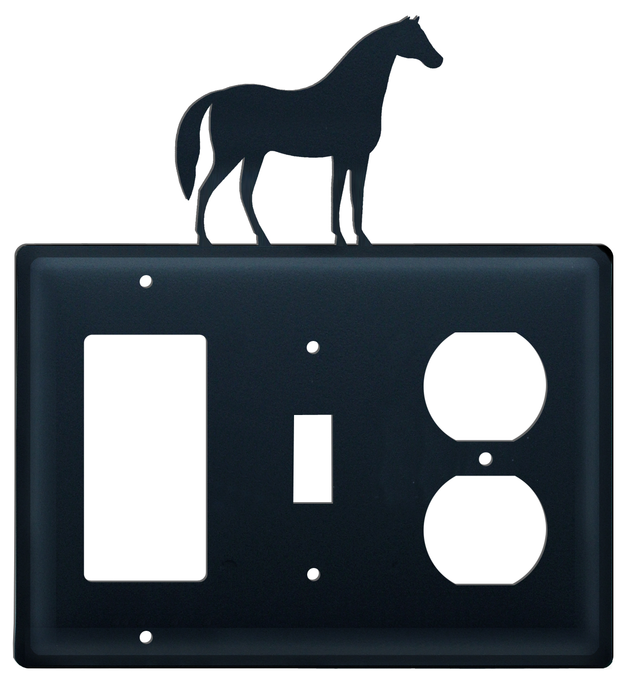 Horse - Single GFI, Switch and Outlet Cover - CUSTOM Product - If Out Of Stock, Allow 4 to 6 Weeks