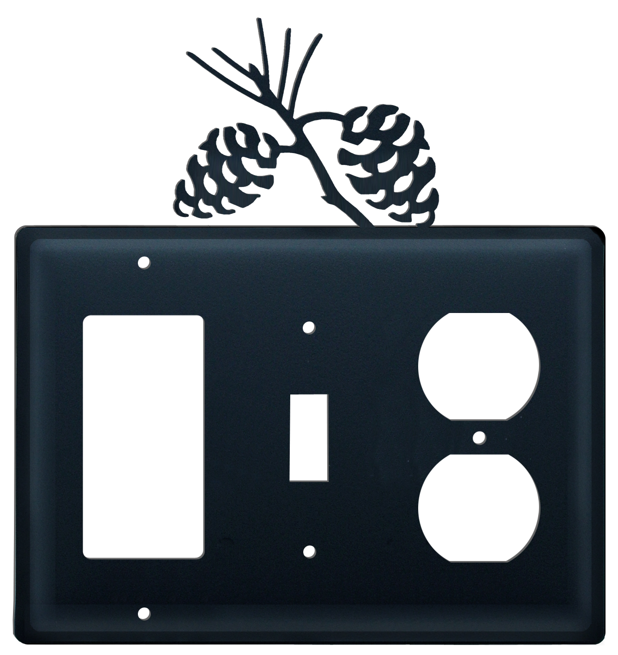 Pinecone - Single GFI, Switch and Outlet Cover - CUSTOM Product - If Out Of Stock, Allow 4 to 6 Weeks