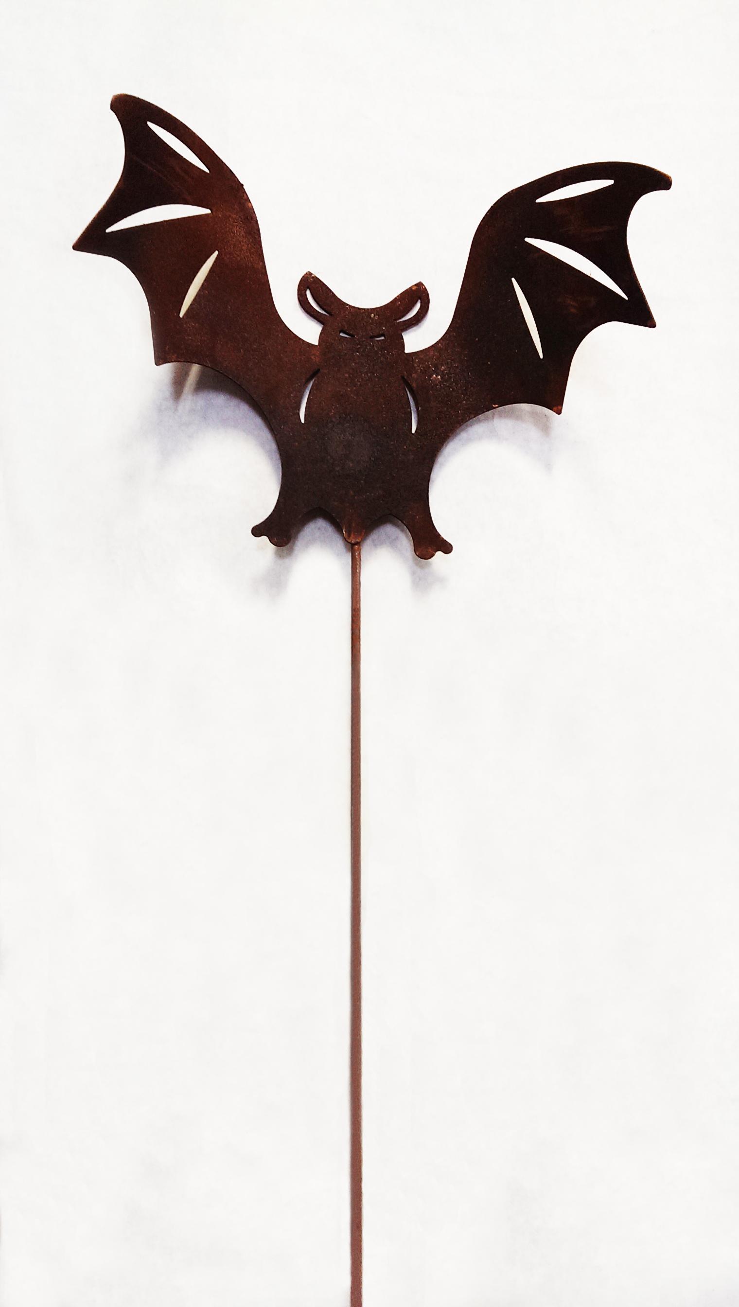 Bat - Rusted Garden Stake