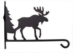 Plant Hanger Moose & Tree 12 Inch
