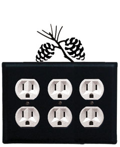 Pinecone - Triple Outlet Cover
