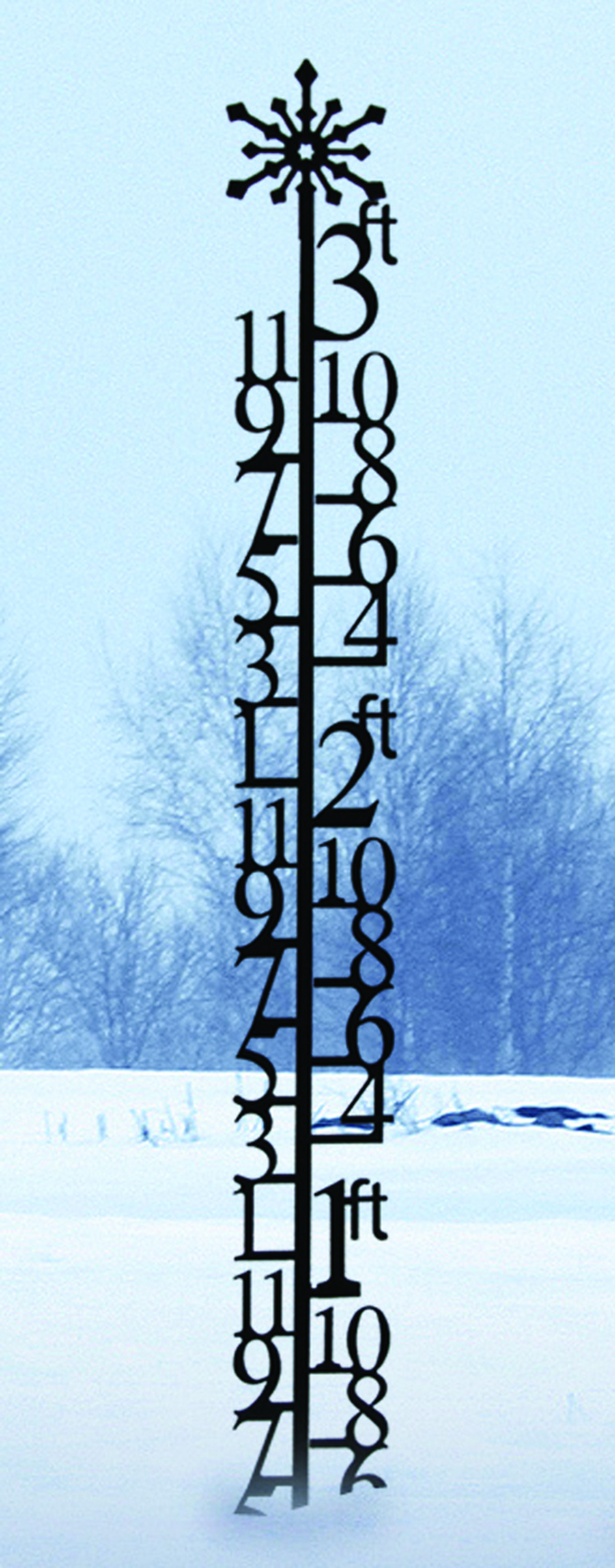 3 Foot Snowflake Snow Gauge