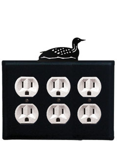 Loon - Triple Outlet Cover