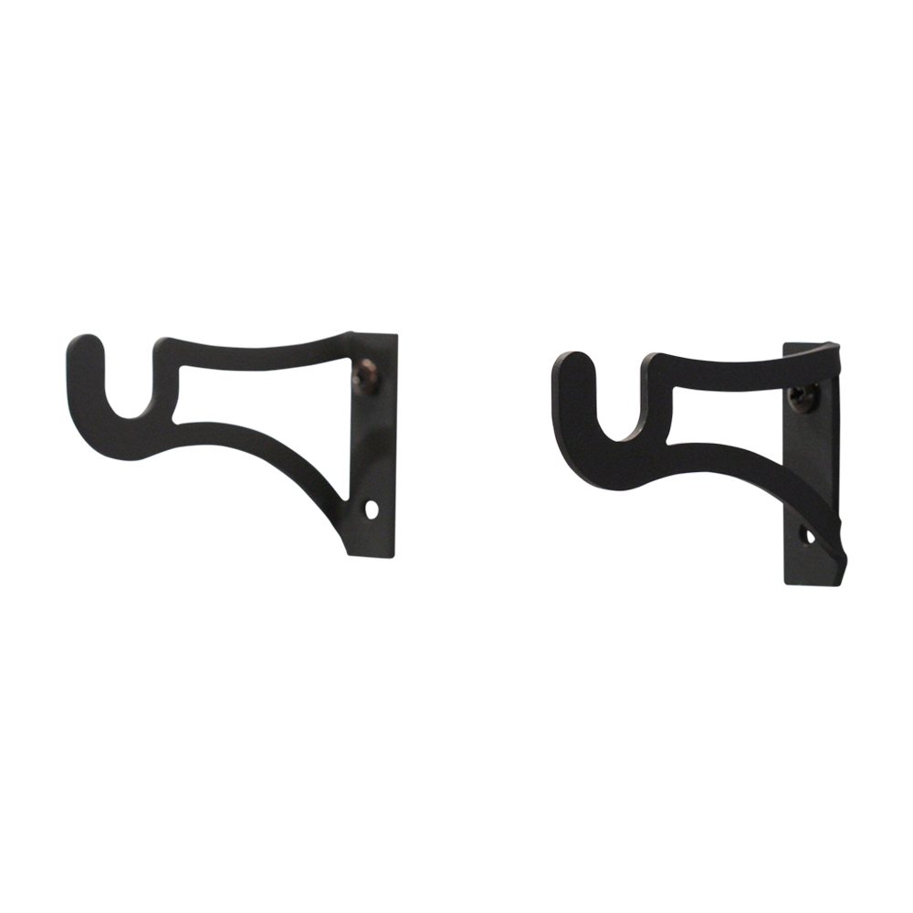 Village Wrought Iron Curtain Brackets For 1 2 Inch Rods
