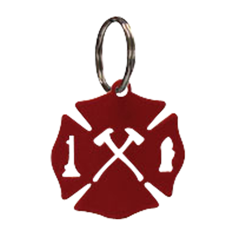 Maltese Cross - Key Chain-RED